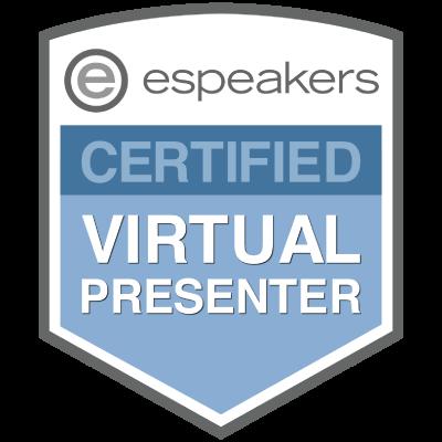 espeakers virtual presenter badge